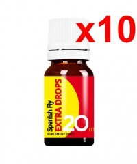 10x SPANISH FLY EXTRA DROPS 20ML