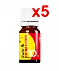 5x SPANISH FLY EXTRA DROPS 10ML