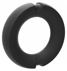 Kink Hybrid Silicone Covered Metal Cock Ring 50mm