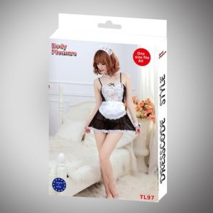 Body Pleasure - Role Play - Waitress - one size - white TL97