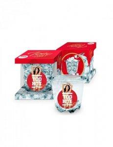 Szkło-TOO HOT - Szklany kubełek na lód - Kobieta Brunetka