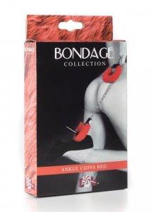 Kajdanki-Ankle cuffs BONDAGE red