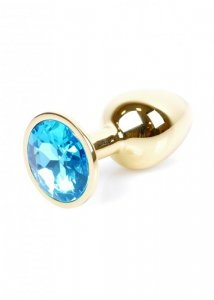 Plug-Jewellery Gold PLUG- Light Blue