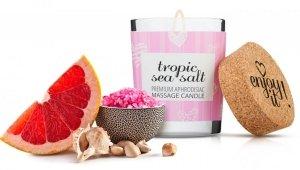 Świeca do masażu 70 ml tropikalne owoce kwiaty i sól morska