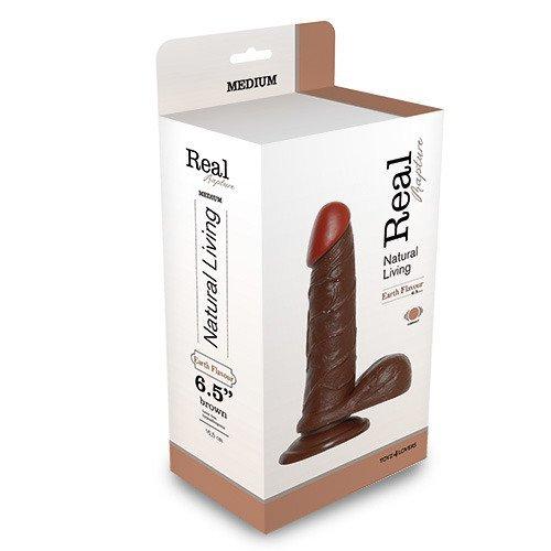 "Wibrator-REALISTIC VIBRATOR REAL RAPTURE BROWN 6.5"""""""""""""""""