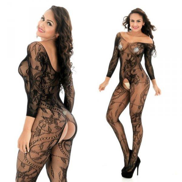 Body Pleasure - Sexy Lingerie Set - M/L - black TL139