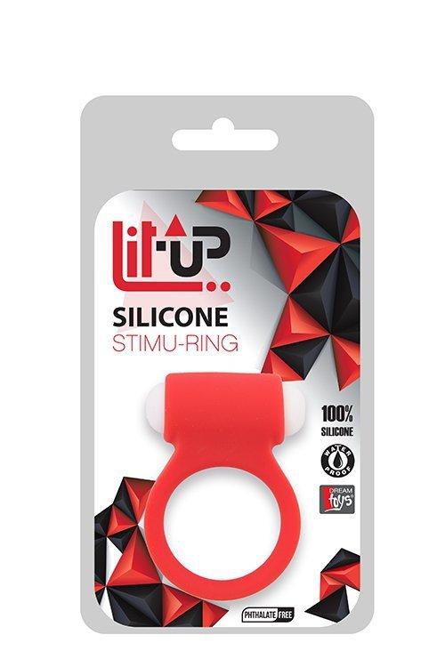 Pierścień-LIT-UP SILICONE STIMU RING 3 RED