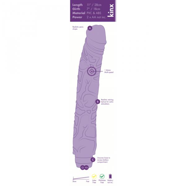 Wibrator-Thor 11 Realistic Vibrator Kinx