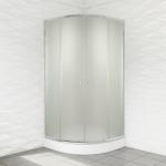 Kabina prysznicowa duso półokrągła 90 mrożona