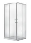Kabina prysznicowa kwadratowa Modern 185 90x90 cm grafitowa