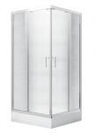 Kabina prysznicowa kwadratowa Modern 165 niska 80x80 cm grafitowa