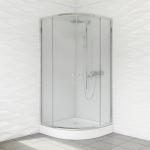 Kabina prysznicowa duso półokrągła 90 transparent