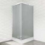 Kabina prysznicowa duso kwadratowa 80 mrożona