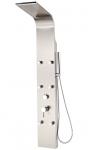 Panel prysznicowy do hydromasażu, stal szczotkowana, SIRIUS Laveo PLS_26MB