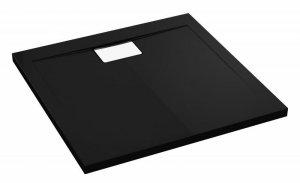 WYPRZEDAŻ: Brodzik prostokątny Vegar Czarny 100x80x1,5x4,5 cm posadzkowy
