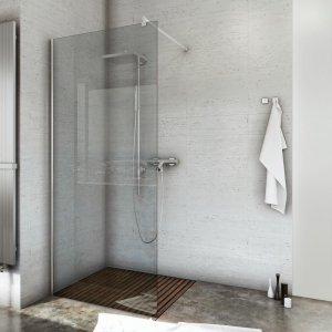 Ścianka prysznicowa narożna Easy In 100 szkło grafit