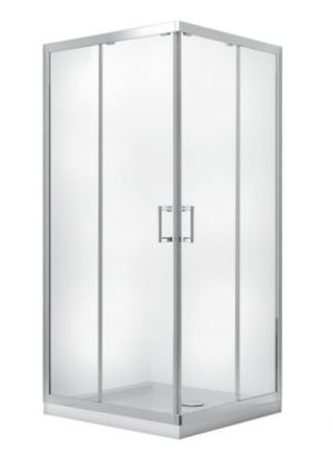 Kabina prysznicowa kwadratowa Modern 185 90x90 cm transparentna