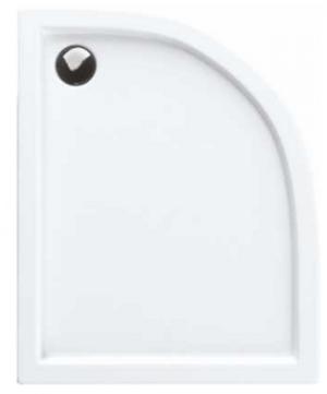 Brodzik asymetryczny lewy 80x100x5,5 Corrina Stabilsound Plus