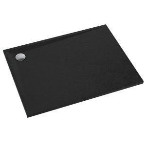 Brodzik prostokątny kompozytowy  Schedline LIBRA Black Stone 120x80