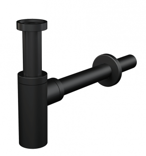 Półsyfon umywalkowy Ø32 DESIGN metalowy czarny mat A400BLACK