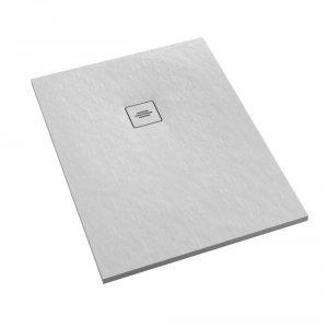 Brodzik prostokątny kompozytowy  Schedline PROTOS White Stone 90x80
