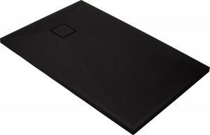 Brodzik prostokątny granitowy Correro 120x80 czarny matowy KQR_N44B