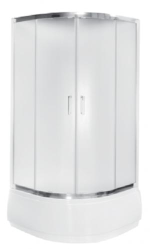 Kabina prysznicowa półokrągła Modern 165 niska 90x90 cm transparentna