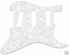 Pickguard 3-P S-S-S Pearl WhiteTyp Strat62r