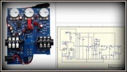 Płytka PCB - efekt gitarowy RAT