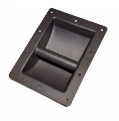 Uchwyt do kolumny metalowy czarny 220 x 162mm