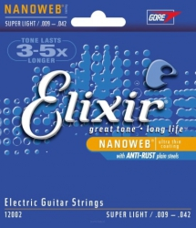 Struny Elixir NanoWeb Super Light 9-42
