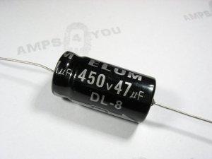 Kondensator elektrolityczny osiowy 47uf/500V