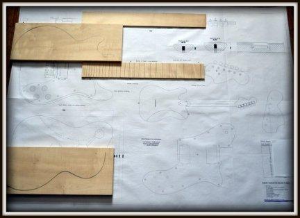 Plan budowy gitary FENDER TELECASTER DELUXE
