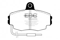 Klocki hamulcowe EBC Greenstuff przód RENAULT Clio (Mk1) 1.8 16v 72mm ABS ring 90-92