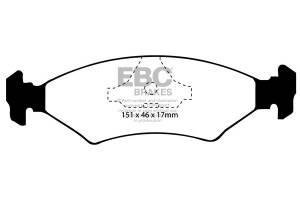 Klocki hamulcowe EBC Bluestuff przód FORD Fiesta (Mk3) 1.8 D Classic (ABS) 95-97