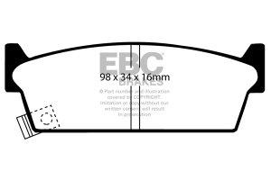 Klocki hamulcowe EBC Greenstuff tył NISSAN Skyline (R31) 1,8 85-89