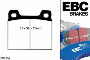 Klocki hamulcowe EBC Bluestuff przód VOLKSWAGEN Beetle 1.6 (1500) 70-73