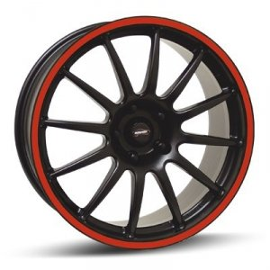 Felga Team Dynamics PRO RACE 1.2S 8x17 czarny z czerwonym