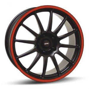 Felga Team Dynamics PRO RACE 1.2S 7,5x17 czarny z czerwonym