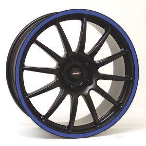Felga Team Dynamics PRO RACE 1.2S 9x17 czarny z niebieskim