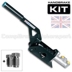 Hydrauliczny hamulec ręczny Compbrake poziomy z pompą i końcówkami