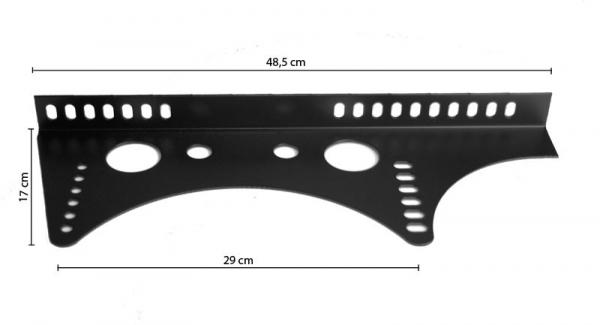 Uniwersalne mocowanie fotela kubełkowego stalowe boczne MR