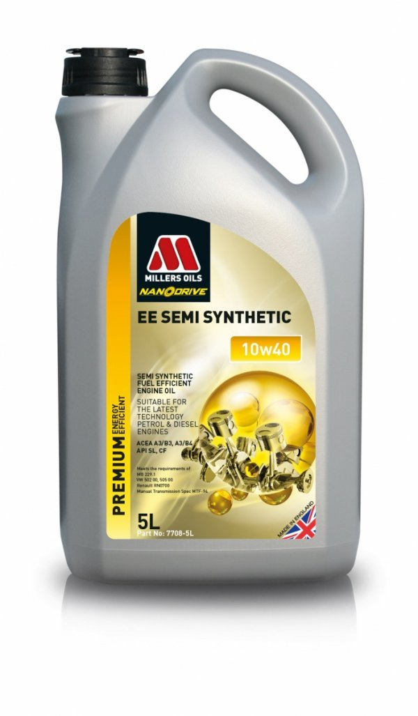 Olej Millers Oils EE Semi Synthetic 10w40 5l