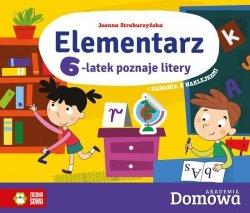 ELEMENTARZ 6-LATEK POZNAJE LITERY DOMOWA AKADEMIA