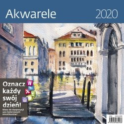 KALENDARZ 2020 AKWARELE 30X30