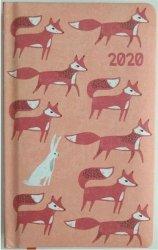 KALENDARZ 2020 FUNNY ANIMALS A6 LISY TNS 35946