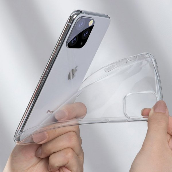 Baseus Simple Series Case przezroczyste żelowe etui iPhone 11 Pro czarny (ARAPIPH58S-01)