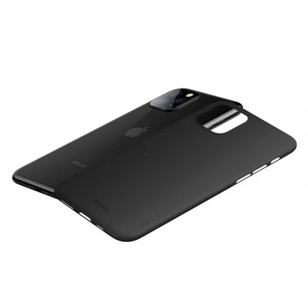 Baseus Wing Case ultracienkie etui pokrowiec iPhone 11 Pro Max czarny (WIAPIPH65S-A01)