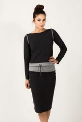 Bluza Damska Model Milena 5 Dark Grey/Light Grey