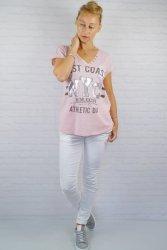 Włoski T-shirt East Coast Róż